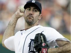 Justin Verlander took a no-hit bid into the eighth inning Tuesday, but failed to join an elite club of pitchers who have thrown two no hitters in one season,