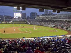 T.D. Ameritrade Park is the new home of the College World Series, which had been held at Rosenblatt Stadium.
