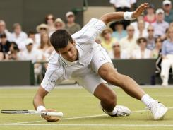 Novak Djokovic of Serbia has 25 titles in his career, including seven in 2011, but none have come on grass.