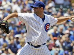 Chicago Cubs starter Doug Davis allowed one run over seven-plus innings against the Yankees on Friday.