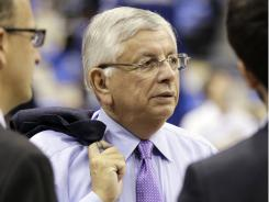 NBA Commissioner David Stern attends Game 3 of the NBA Finals in Dallas on June 5.