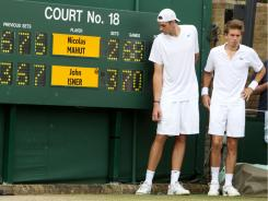 John Isner and Nicolas Mahut, who played the longest match in history last year at Wimbledon, will play again in the first round this year.