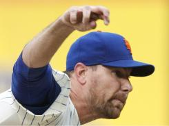 Mets starter Mike Pelfrey tossed a complete game Saturday vs. the Angels, his first in three years. The Mets won 5-1.