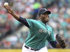 Mariners rookie Michael Pineda took a no-hitter into the sixth inning, leading Seattle past Philadelphia on Friday night.