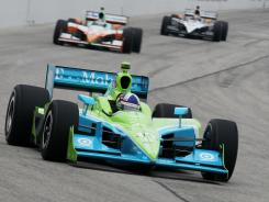 IndyCar Series driver Dario Franchitti finished first at The Milwaukee Mile on Sunday to earn his third win of the season.