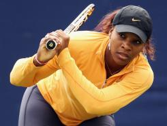 Serena Williams of the USA, who has played only two matches since winning Wimbledon last year, says she's healthy and ready.