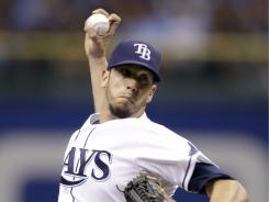 Rays pitcher James Shields is 7-4 this season.