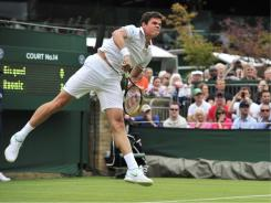 Rising star Milos Raonic of Canada is part of a new trend of ATP World Tour players, increasingly taller but who still can move around the court.