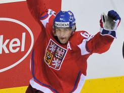Jaromir Jagr, shown here at the world championships, is debating a return to the NHL.