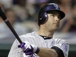 The Rockies' Seth Smith hit two home runs Tuesday  in Cleveland, his second being the game-winner. Colorado  beat the Indians 4-3.