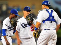 Dodgers starting pitcher Chad Billingsley allowed just one run in five innings against the Tigers Tuesday night in Los Angeles. The Dodgers won 6-1.