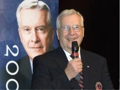 Harley Hotchkiss, shown at his Hall of Fame induction in 2006, was a longtime chairman of the NHL board of governors.