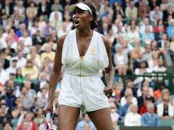 Five-time champ Venus Williams of the USA had to rally Wednesday to beat Kimiko Date-Krumm of Japan in a second-round match at Wimbledon.