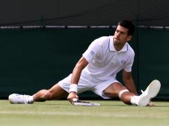 Novak Djokovic of Serbia wasn't stretched at all in his second-round, 6-3, 6-4, 6-2 victory against  Kevin Anderson of South Africa.