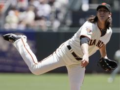 Tim Lincecum entered Thursday's game against the Twins with a 7.59 ERA in June before throwing seven strong innings, allowing just one run to get the win. Lincecum's ERA is now at 3.16.
