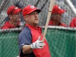 """Matt Stairs, now with the Nationals, his 12th stop in the big leagues, earned his nickname, """"the professional hitter,"""" at Oakland, stop No. 3. This is his 19th MLB season."""