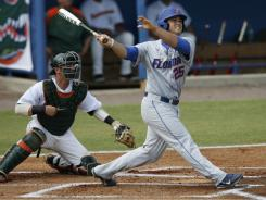Preston Tucker and the Florida Gators look to remain unbeaten this year at the College World Series when they face Vanderbilt on Friday.