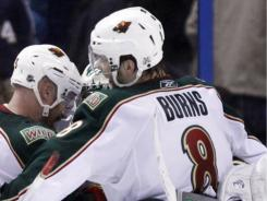 Minnesota Wild All-Star defenseman Brent Burns was dealt to the San Jose Sharks on the first day of the draft.