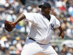 CC Sabathia allowed one run and struck out nine in eight innings to help the Yankees beat the Rockies.