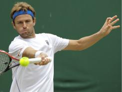 Mardy Fish of the USA faces 2010 fnalist Tomas Berdych in the Round of 16 on Monday at Wimbledon.