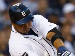 Tigers shortstop Jhonny Peralta hit an RBI  triple during the eighth inning against the Blue Jays on Monday night, leading Detroit to its third consecutive win.