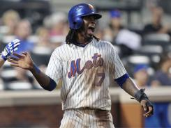 Perhaps the most valuable fantasy player in the season's first half, shortstop Jose Reyes of the Mets, leads the National League in batting average (.341) and runs scored (61) and is second in stolen bases (28).