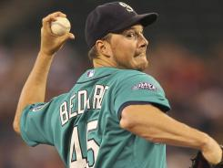 The Mariners placed starting pitcher Erik Bedard, owner of the best ERA in baseball over the last two months, on the disabled list Wednesday with a sprained left knee.
