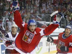 Jaromir Jagr, shown here playing for the Czech Republic, wants to return to the NHL after three years playing in Russia.
