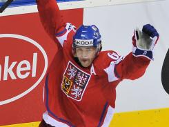 Jaromir Jagr, here playing for the Czech Republic, signed a one-year deal with the Flyers.