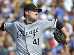 Starting pitcher Philip Humber tossed six shutout innings against the Cubs Saturday, earning his eighth victory of the season. The White Sox beat the Cubs, 1-0.