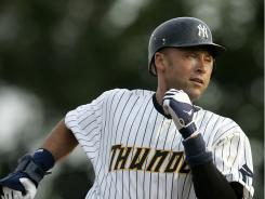 After missing 17 games with a right calf strain, Yankees shortstop Derek Jeter made his first rehab appearance with Class AA Trenton Saturday. Jeter went 1-2 with a walk and run scored. He is expected to rejoin the team Monday.