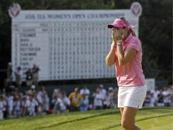 Paula Creamer celebrates her victory a year ago at Oakmont in the U.S. Women's Open.