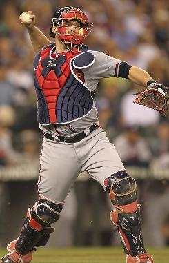 Braves catcher Brian McCann has batted .296 with 26 home runs, 91 RBI and four steals in the last 12 months to stand out among NL players at the position.