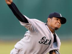 Felix Hernandez allowed four hits and one run while striking out 10 over eight innings Tuesday night in Oakland. The Mariners beat the A's 4-2 in 10 innings.