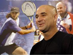 With an exhibit of his career behind him, tennis great Andre Agassi reflects on his induction to the International Tennis Hall of Fame, which takes place on Saturday.