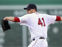After allowing six runs in his previous start, Red Sox pitcher John Lackey shut down the Orioles for 6 2/3 innings Saturday night. The Red Sox won, 4-0.