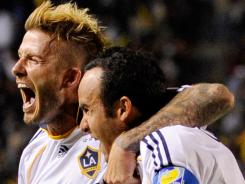David Beckham, left, and Landon Donovan are among four Los Angeles Galaxy players slated to play in the MLS All-Star Game on July 27.