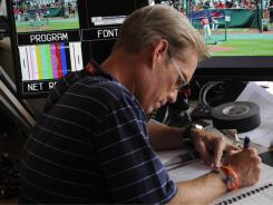 Fox announcer Joe Buck, here prepping for the 2009 All-Star Game in St. Louis, is working his way back after suffering an injury to one of his vocal cords.