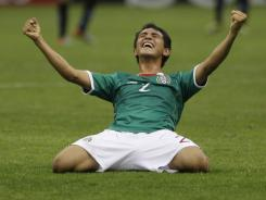 Mexico's Francisco Flores celebrates after winning the FIFA U-17 World Cup  against Uruguay on Sunday. Mexico last won the title in 2005.