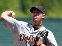 Starting pitcher Justin Verlander earned his 12th victory of the season Sunday, the first Tiger to accomplish that feat before the All-Star break since Jack Morris did so 24 years ago. The Tigers beat the Royals 2-1.