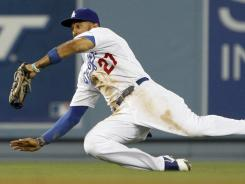 Los Angeles Dodgers center fielder Matt Kemp is on pace for 39 homers and 48 steals.