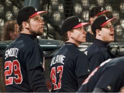 Tim Hudson calls the Braves' starting rotation the best pitching staff he has ever been a part of. But does it compare to former Braves pitchers John Smoltz, Tom Glavine and Greg Maddux?
