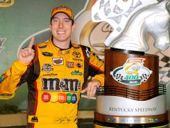 Kyle Busch's win at Kentucky Speedway last weekend was the 22nd of his Sprint Cup career, his fourth on a 1.5-mile track during his seven seasons in NASCAR's premier series.