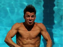 Troy Dumais of the USA dives during 3-meter springboard preliminaries at the Fort Lauderdale Aquatic Center during the AT&T USA Diving Grand Prix on May  6, 2010 in Fort Lauderdale.