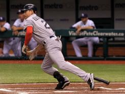 Red Sox center fielder Jacoby Ellsbury has four home runs in his current seven-game hitting streak.