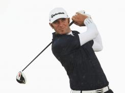 Dustin Johnson of the USA was in contention again at a major, but a big mistake on the back nine might have cost him a chance to win.