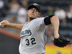 Marlins starter Clay Hensley won his first game in three years Monday after tossing five shutout innings against the Mets. The Marlins improved to 15-9 under new manager Jack McKeon after their  4-1 win.