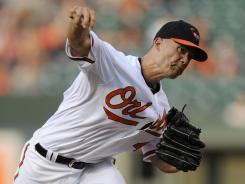 Orioles starter Jeremy Guthrie avoided his 14th loss of the season with a solid outing and some support from his offense.
