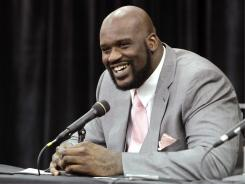Fresh out of retirement, Shaquille O'Neal stirred up controversy on his first day as an NBA analyst, leaving Chris Bosh out of Miami's 'Big 2.'