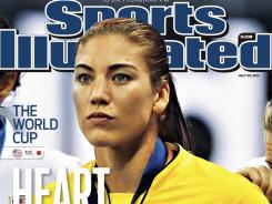 Team USA goalkeeper Hope Solo graces the cover of this week's Sports Illustrated.